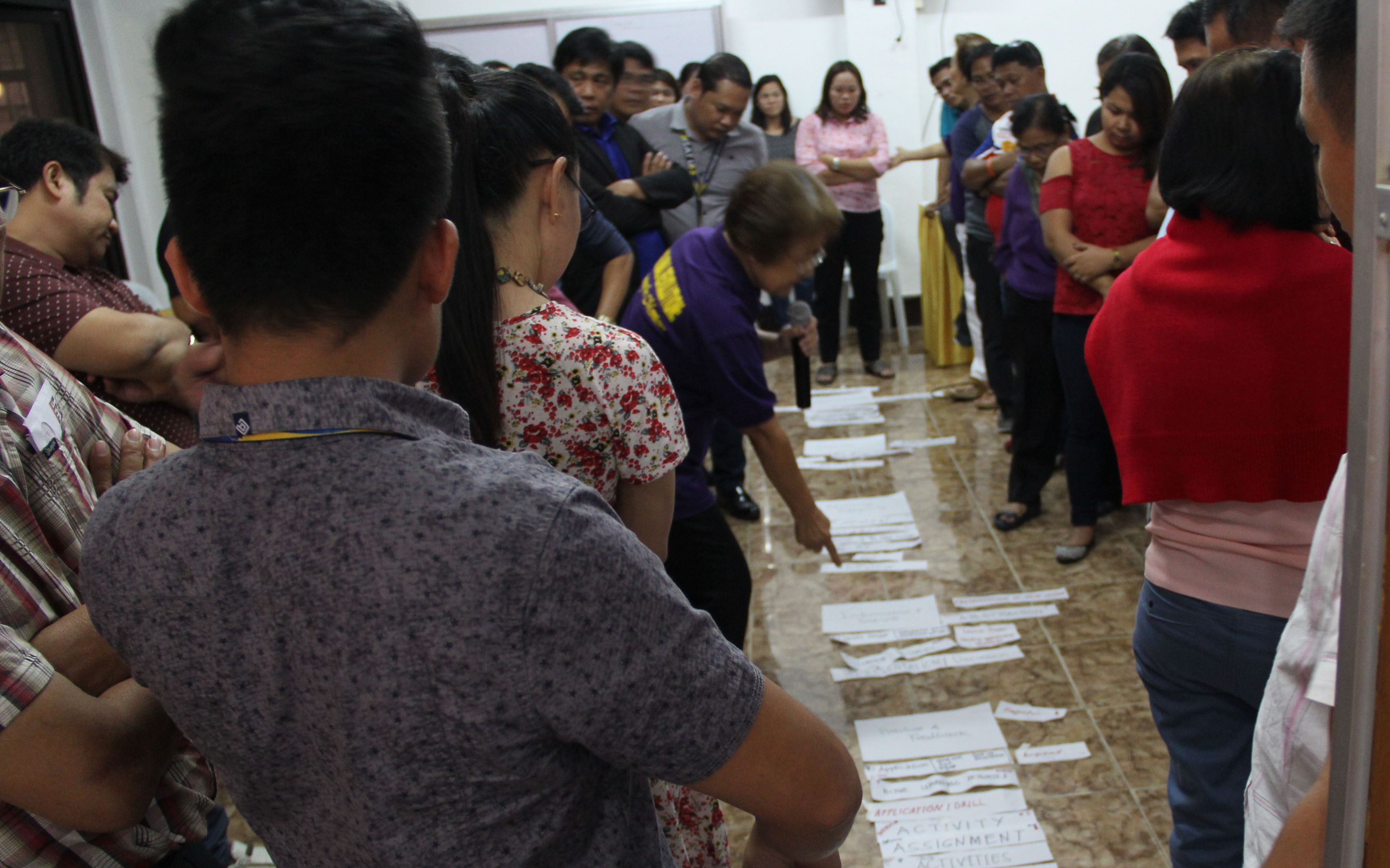 The activities in the program involves participants and their outputs in planning teaching strategies.
