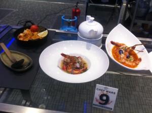 "The winning entry-""Linagpang na Pasayan kag Pantat"" (grilled prawn and catfish in shrimp paste broth), Buttered Poach Prawn in Adobado Sauce and ""Aligi Rice with Prawn"""