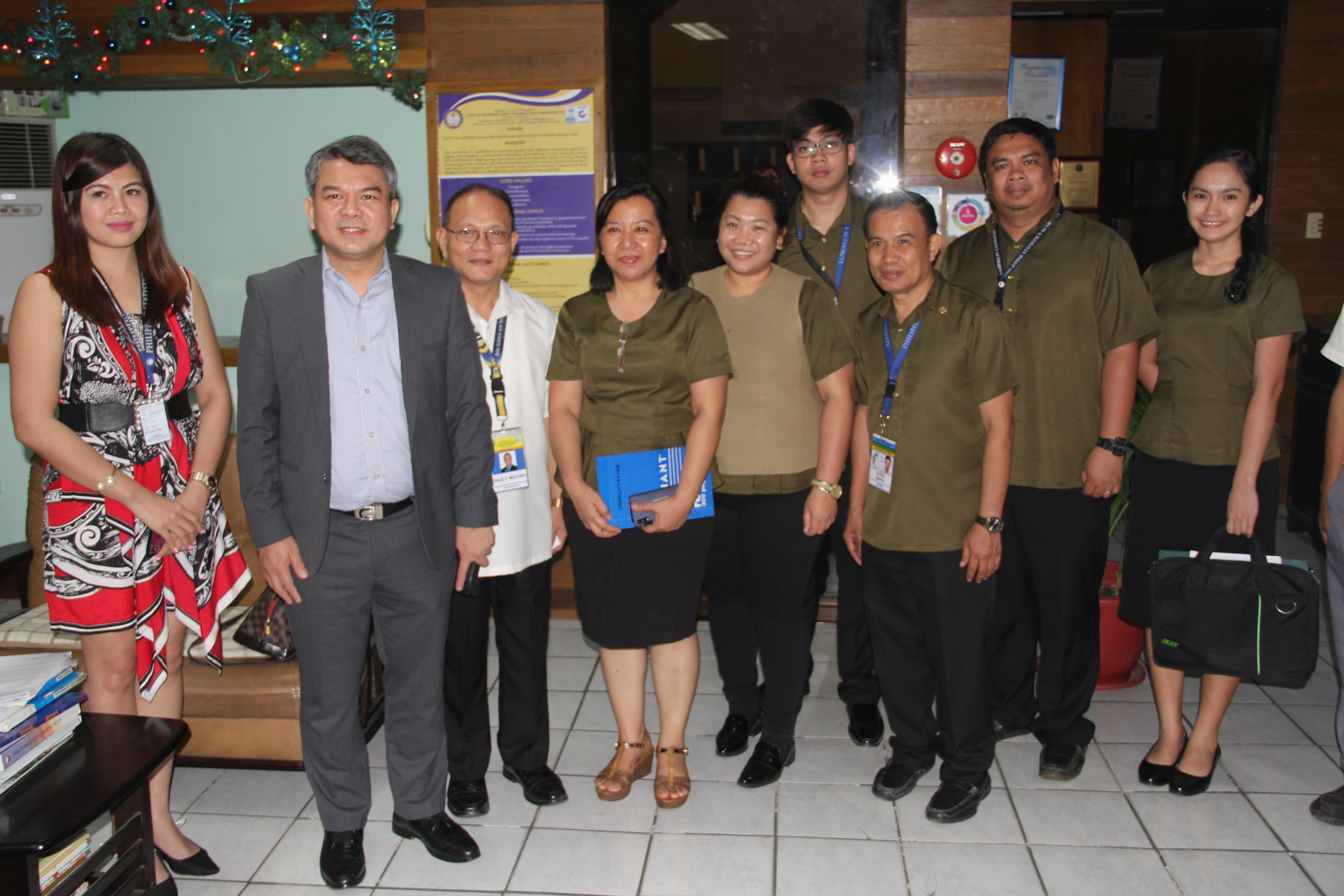 Under Secretary  Dennis S. Mapa (2nd from left)  and Phil. Statistics Authority Regional Office 6 personnel conduct an Information Dissemination Forum at the Multi-purpose Educational Center on November 11, 2019. USEC Mapa is the National Statistician and Civil Registrar General.