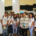 The student enjoy some moment with the university president as they explore the different exhibits.