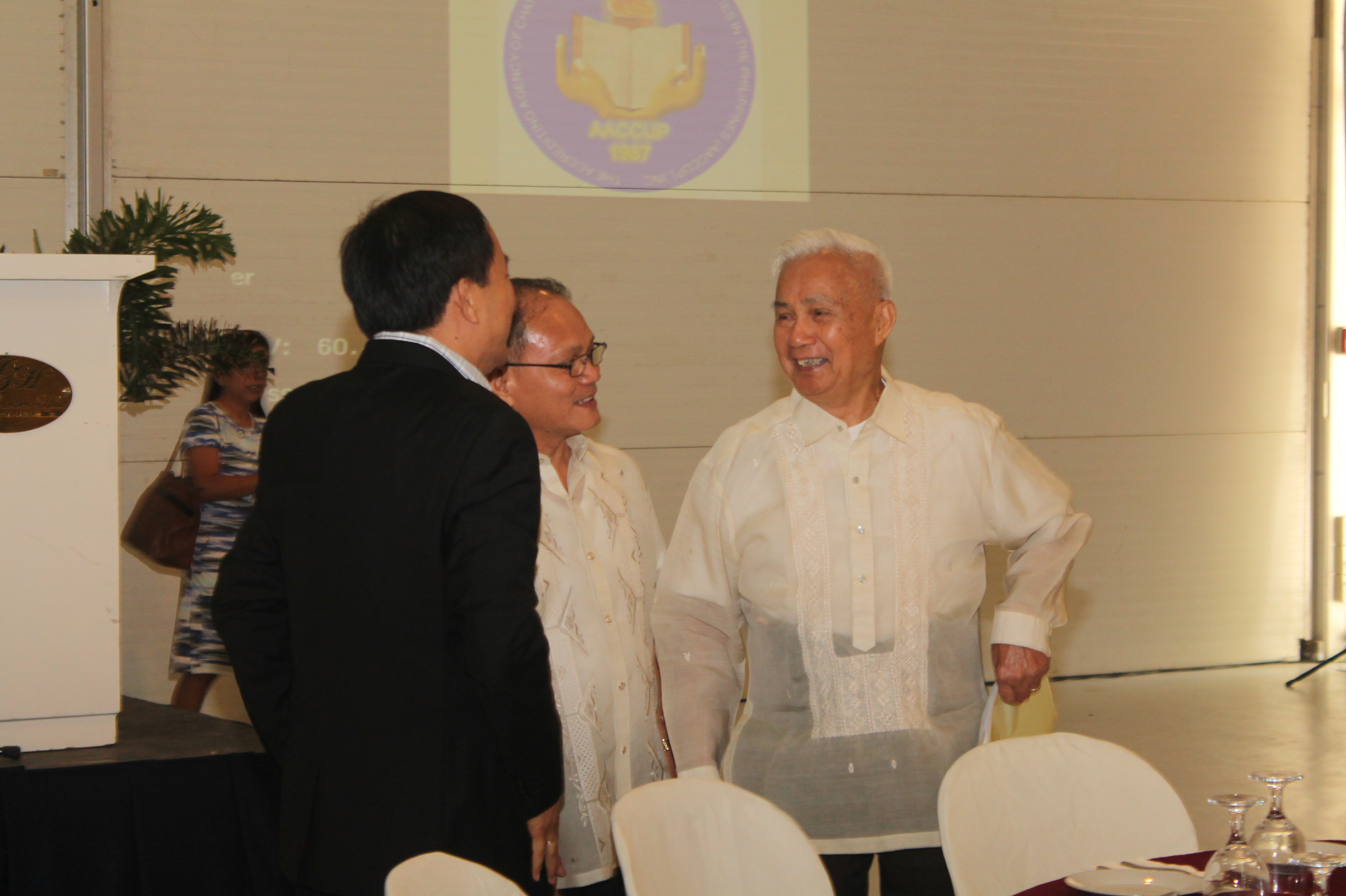 Dr. Mario S. Suba, Dr. Raul  F. Muyong and Dr. Angel C. Alcala