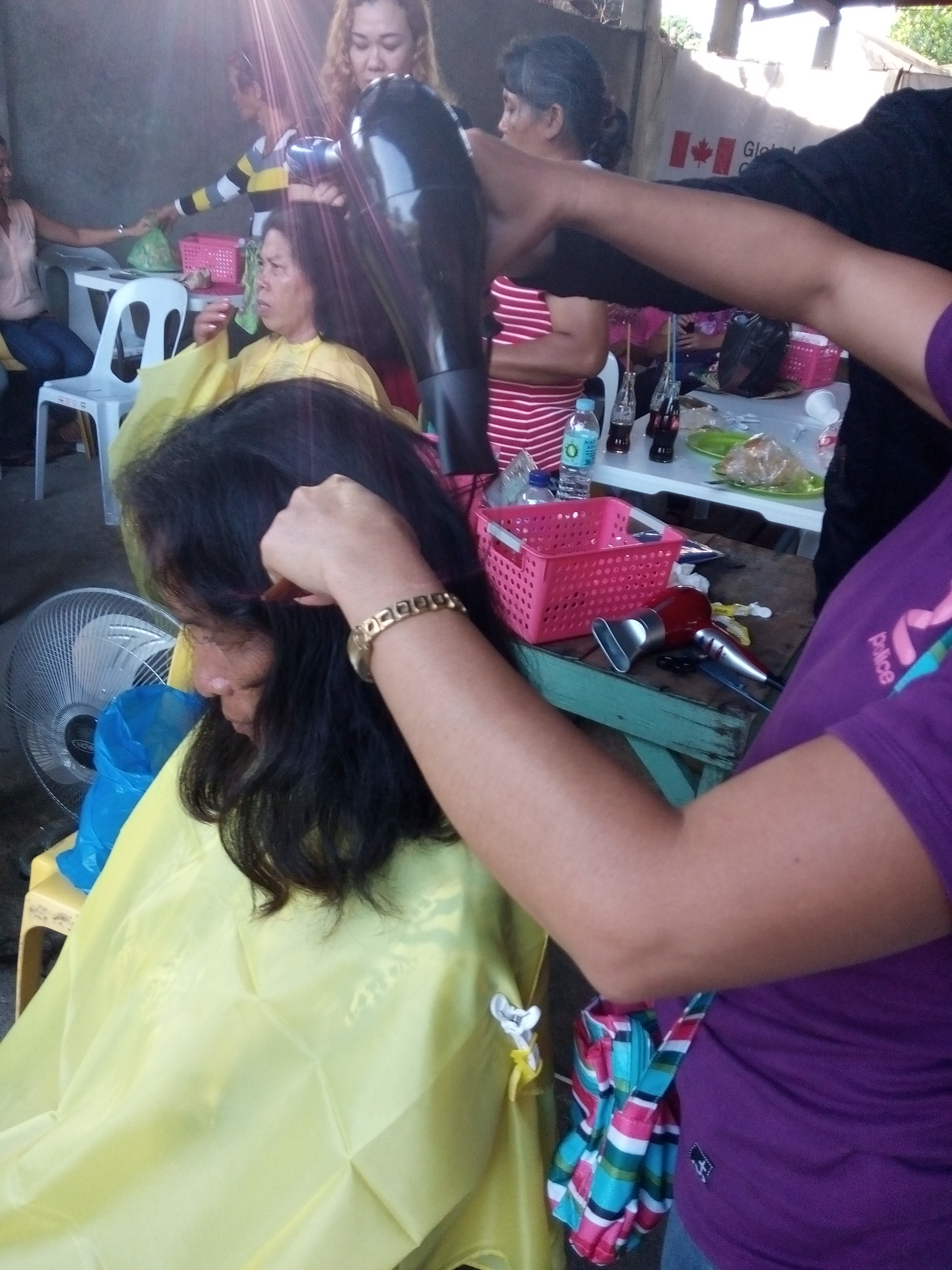 "The actual demonstration on hair styling on ""The Kaganahan Mo, Kabuhayan Ko"" training."