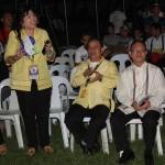 Dr. Nehema K. Misola, Dr. Susan Marie R. dela Cruz, Dr. Manuel A. Sanchez,  Jr. and Dr. Gabriel M. Salistre, Jr. join the students in singing a birthday song  for Dr. Raul F. Muyong.