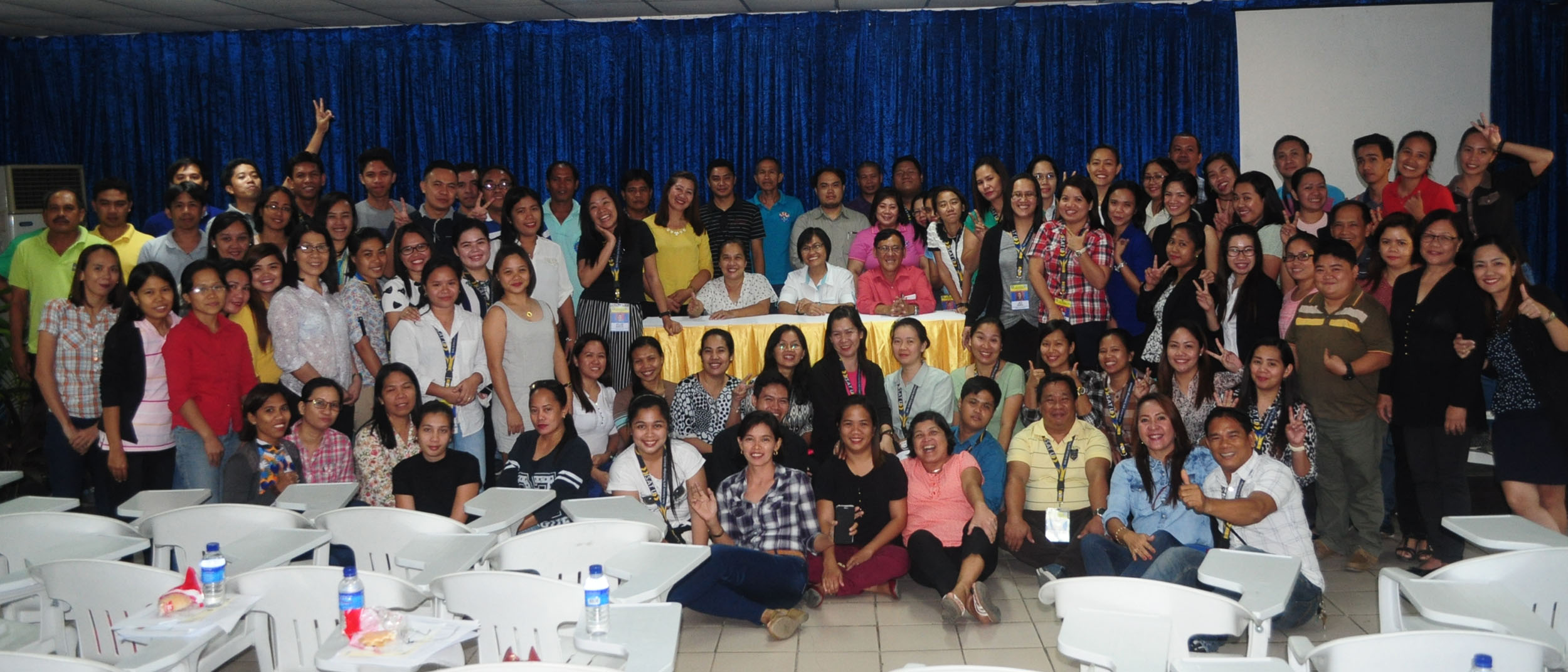 the participants pose for the camera after completing the two-day seminar workshop.