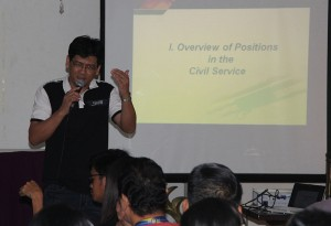 Mr. John Esar T. David, Acting Director II CSC FO discusses